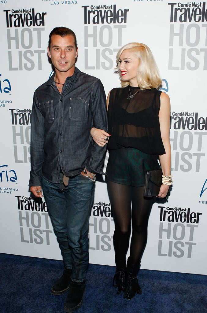 Gavin Rossdale and Gwen Stefani arrived at a Conde Nast Traveler party in Las Vegas in April 2010.