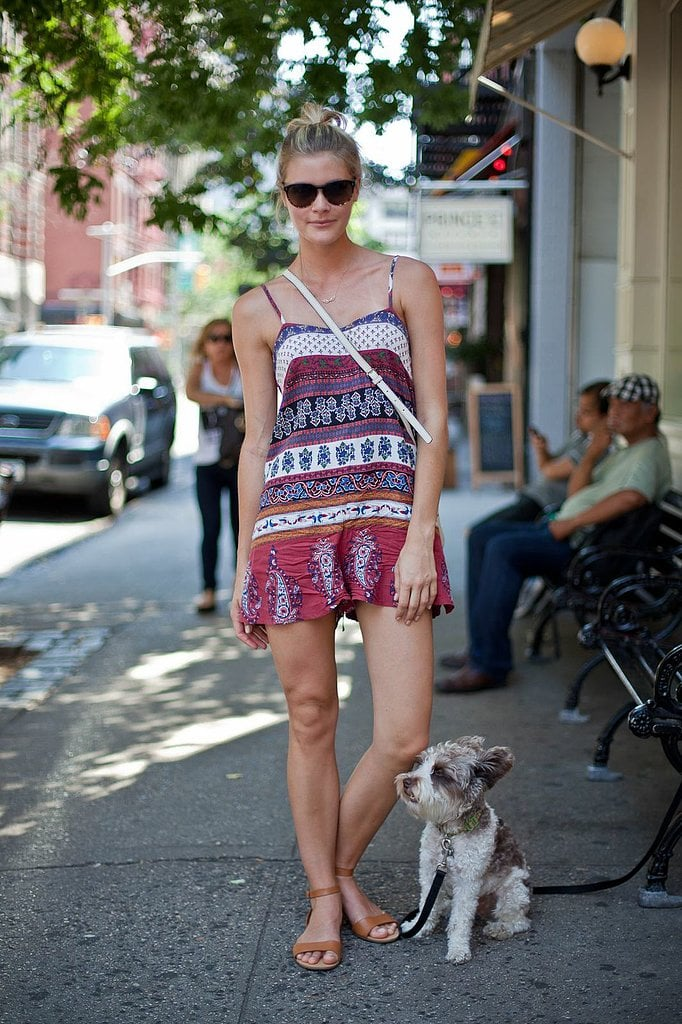 OK, it's not exactly a dress, but a printed romper like this in your arsenal will serve you well on a sweltering Summer day — trust us, it's way breezier than your cutoffs.  Source: Joy Jacobs Photography