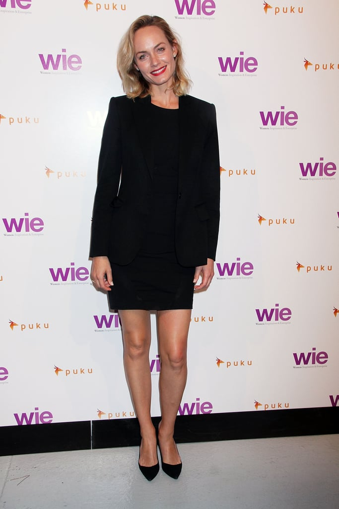 Amber Valetta gave the WIE Symposium a sophisticated style in her black ensemble.