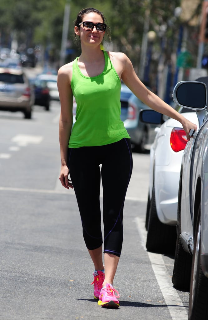 Emmy Rossum made time for a gym visit in LA on Saturday.
