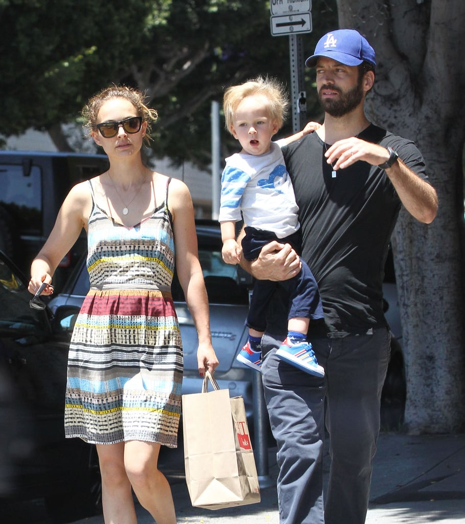 Natalie Portman and Benjamin Millepied brought their son, Aleph, to an LA park on Sunday.