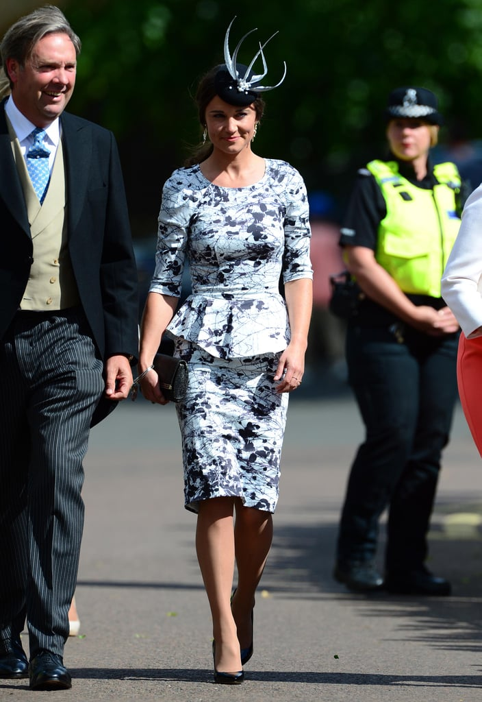 Pippa Middleton smiled at the crowd.