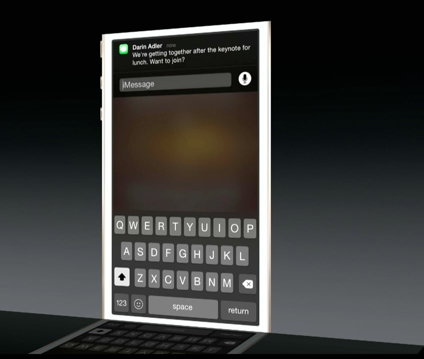 Respond to Texts From Notification Center
