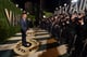 Taylor Lautner arrived at the Vanity Fair Oscar party on Sunday night.