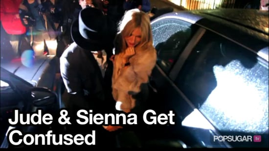 Video of Jude Law and Sienna Miller Leaving Dinner in London
