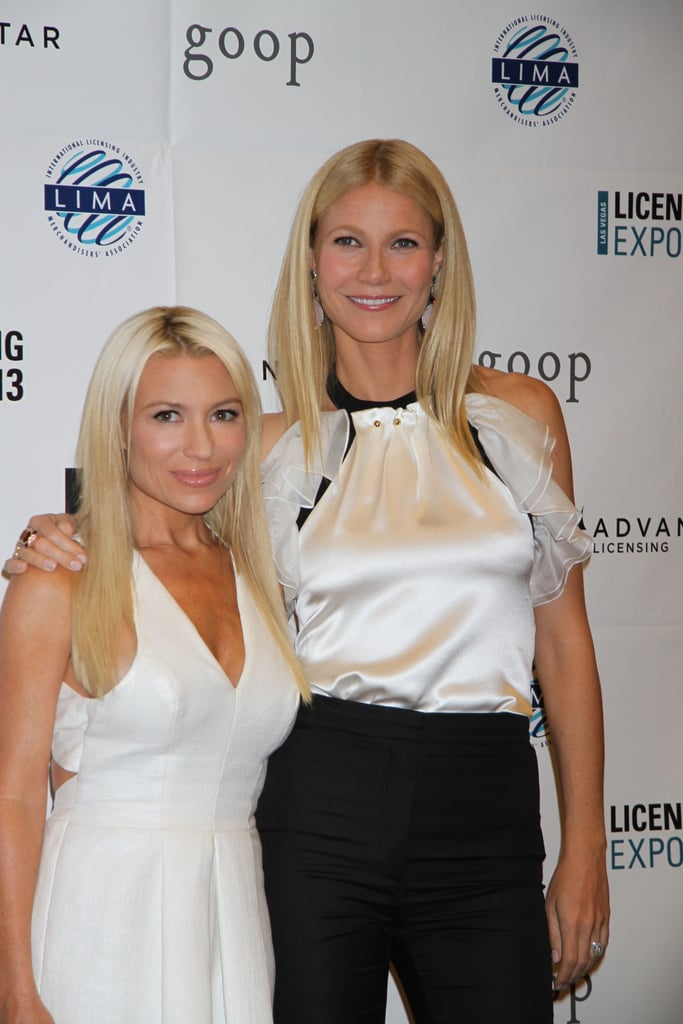 Gwyneth Paltrow posed next to Tracy Anderson while at the Licensing Expo in Las Vegas on Tuesday.