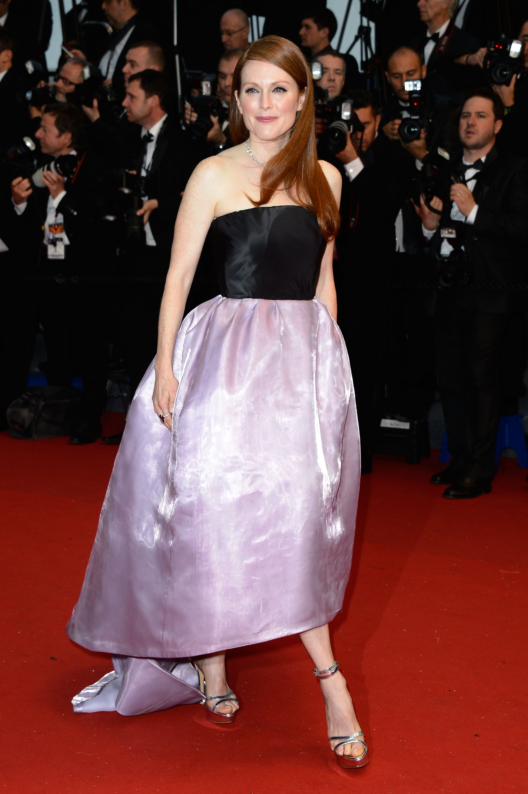 Julianne Moore walked the red carpet at the 2013 Cannes Film Festival.
