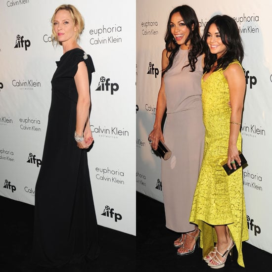 Rosario Dawson, Vanessa Hudgens, and Uma Thurman Pictures at Cannes
