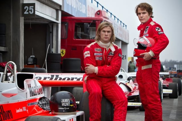 Rush Director Ron Howard tackles the real-life tale of F1 racers James Hunt (Chris Hemsworth) and Niki Lauda (Daniel Brühl), who shared a notorious rivalry during their heyday in the 1970s. Howard's adrenaline-spiking, expertly executed race sequences are a highlight here. Still, despite strong performances by Hemsworth and Brühl, the often stilted dialogue and Howard's decision to intercut some of the film's scenes with footage of the real Lauda and Hunt are likely to take the audience out of the movie in some of the moments when it most counts.