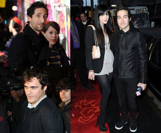 Pictures of Joaquin Phoenix, Adrien Brody, Ashlee Simpson and Pete Wentz At Banksy Documentary in LA 2010-04-13 12:46:49