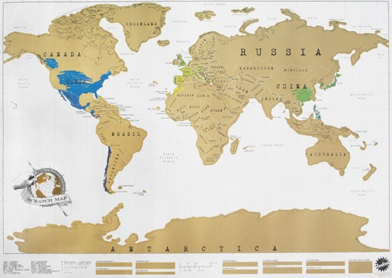 Wall-Size Scratch Map