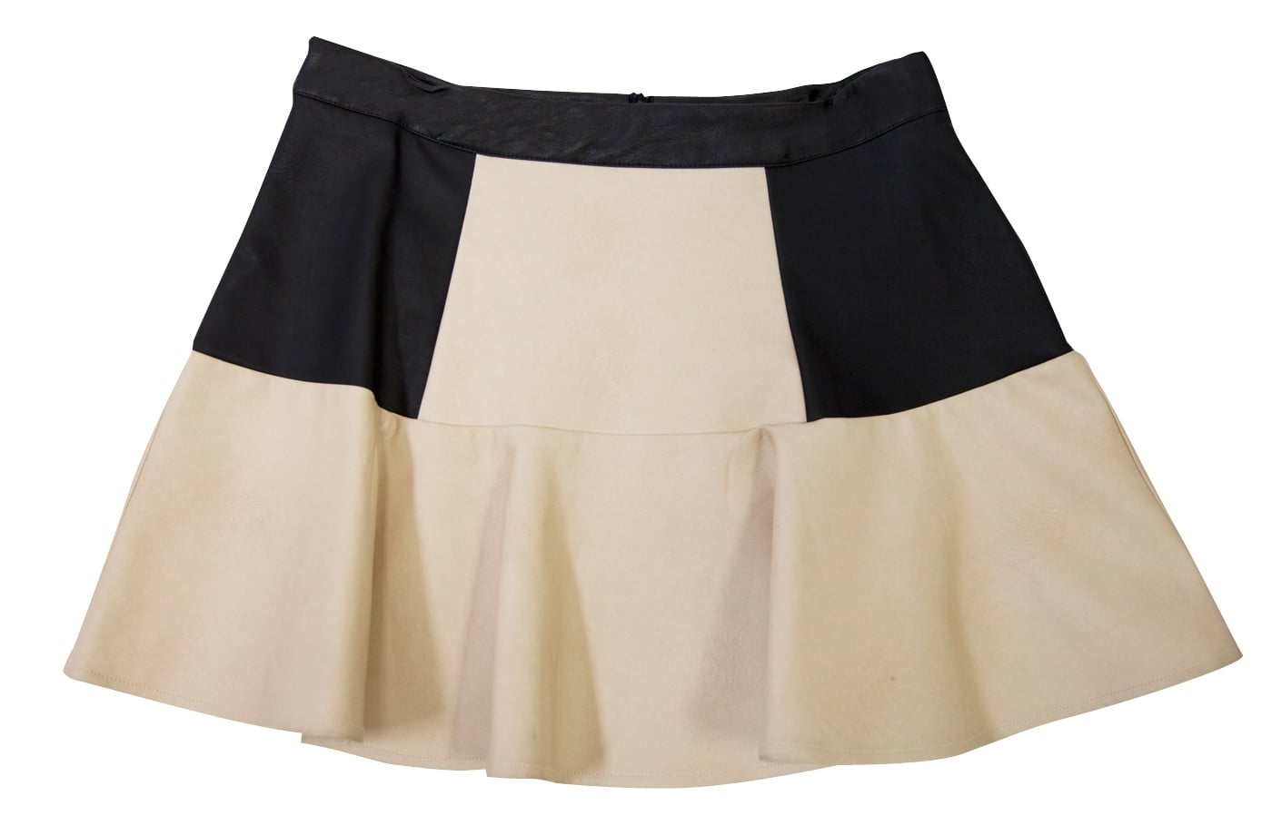 The light shade of this colorblock mini from Lush Clothing ($48) will really pop against black tights in the Fall.