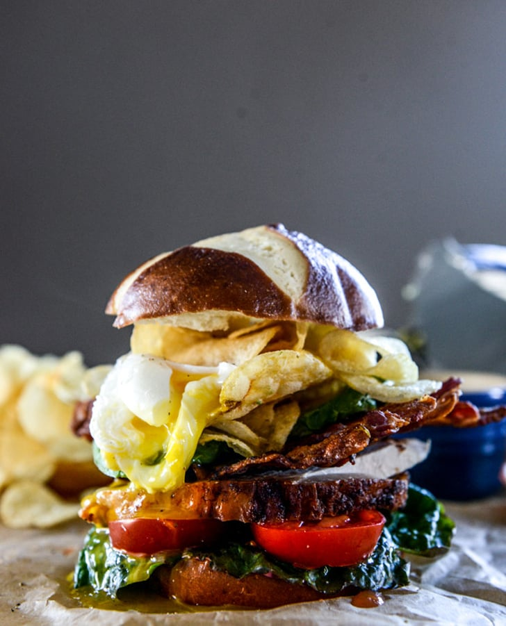 Roasted Turkey Potato-Chip-Stuffed BLAT