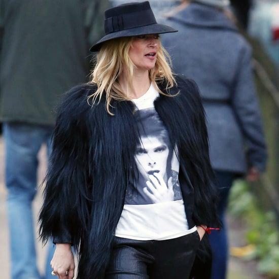 Kate Moss Wears David Bowie Shirt 2016