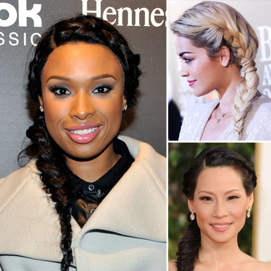 If fishtail braids aren't quite your thing, conjoined braids are also having a moment in Hollywood.