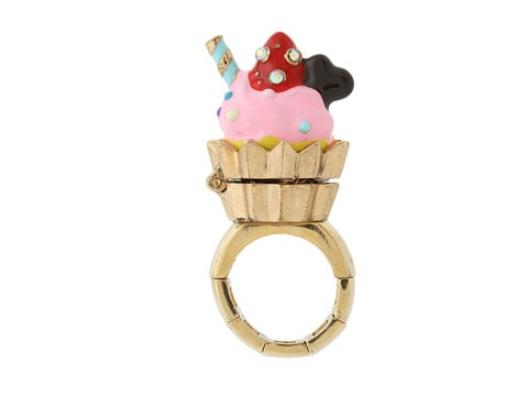 Not only can you eat cupcakes, but you can wear a ring shaped like the sugary confection ($50), too!