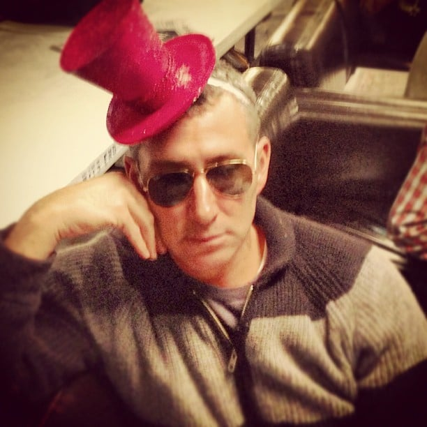Adam Shankman tried on a tiny hat. Source: Instagram user adamshankman