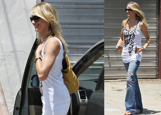 Photos of Cameron Diaz Leaving a Psychic Office