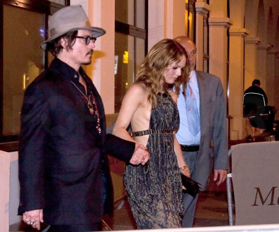 Slide Picture of Johnny Depp and Vanessa Paradis in Cannes