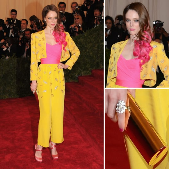 Pictures of Coco Rocha in Vintage Givenchy from Elizabeth Taylor on the Red Carpet at the 2012 Met Costume Institue Gala