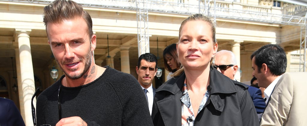 Only 1 Thing Can Distract Us From David Beckham — and That's Kate Moss's Matching Set