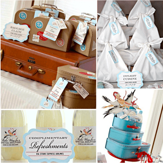 An Aiplane-Themed Baby Shower
