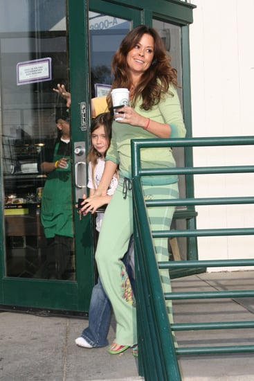 Brooke Burke looked trim at her local coffee shop.