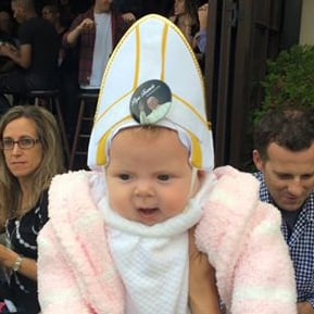Baby Dressed as Pope Makes Pope Francis Laugh