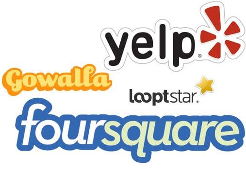 Foursquare vs. Loopt Star vs. Gowalla vs. Yelp