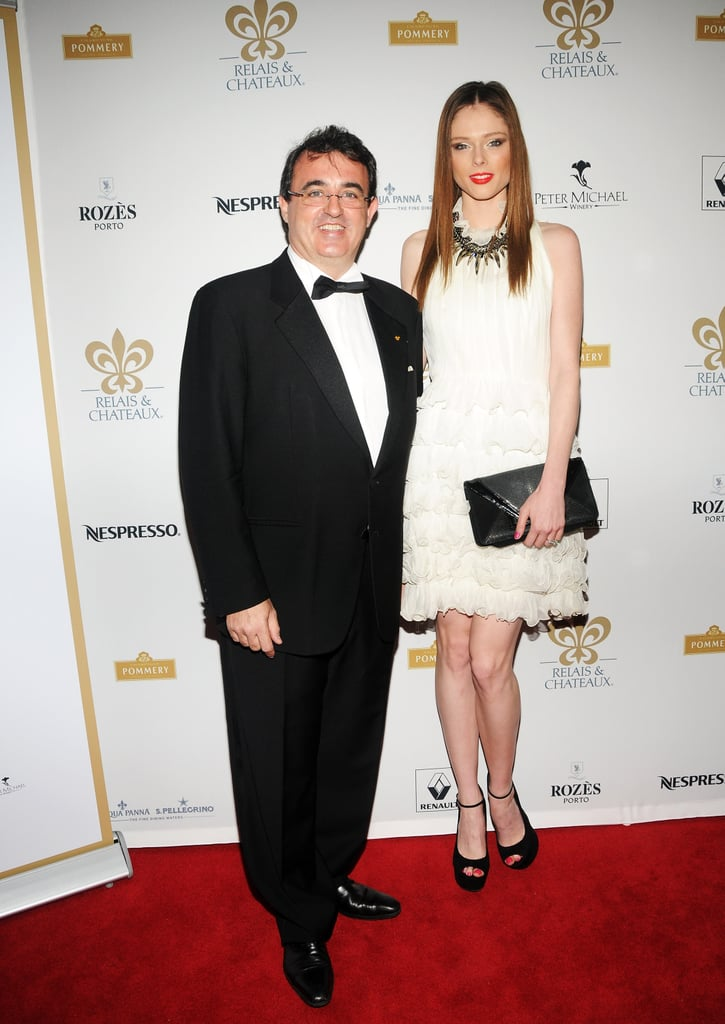 Jaume Tapies and Coco Rocha got together at the Grand Chefs Dinner in NYC.