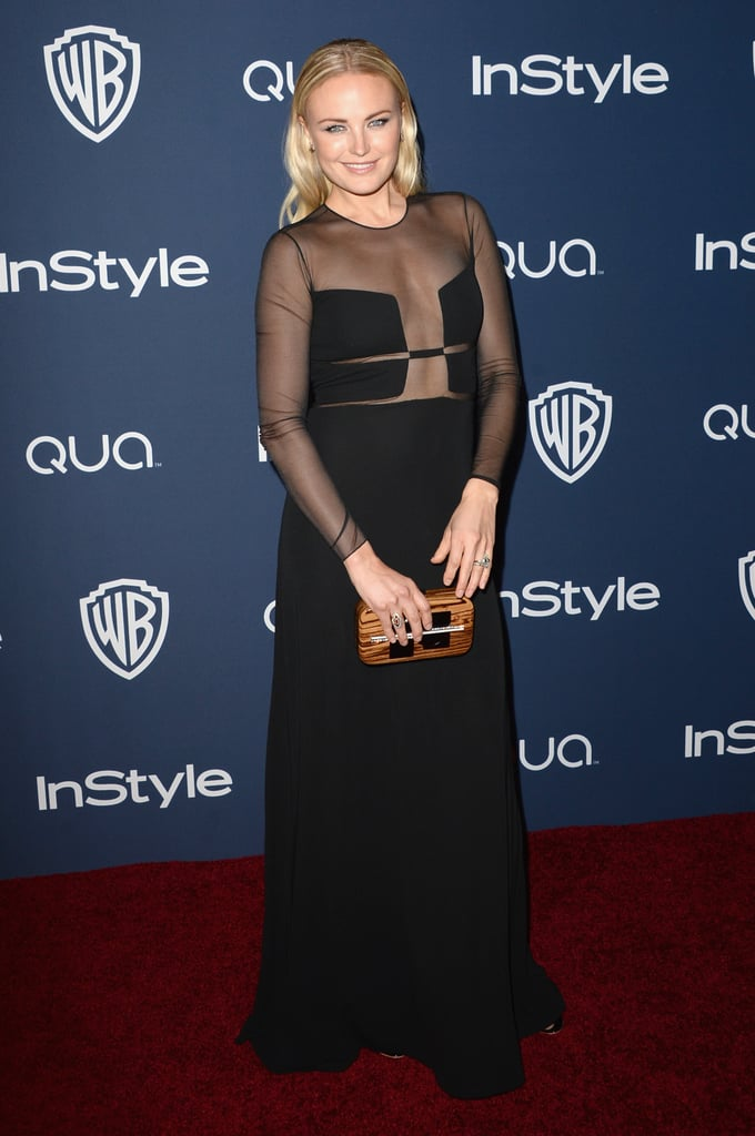 Malin Akerman attended the InStyle/Warner Bros. party after the Golden Globes.