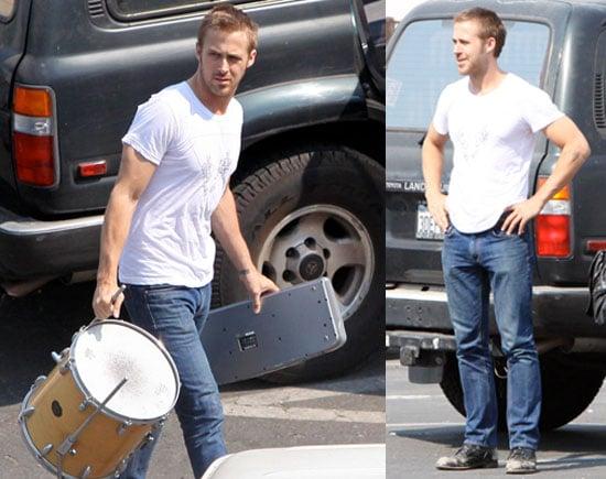 Photos of Ryan Gosling at band practice