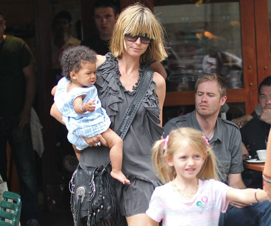 Slide Picture of Heidi Klum with Leni and Lou at Bar Pitti in New York