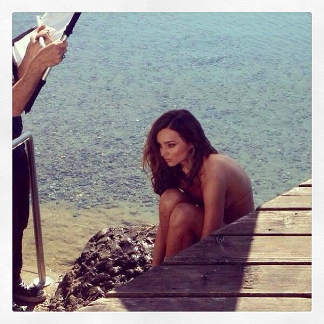 Miranda Kerr gave us a sneak peek at her photo shoot. Source: Instagram user mirandakerr
