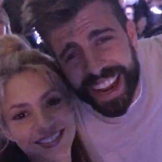 Shakira and Gerard Pique at a Coldplay Concert May 2016