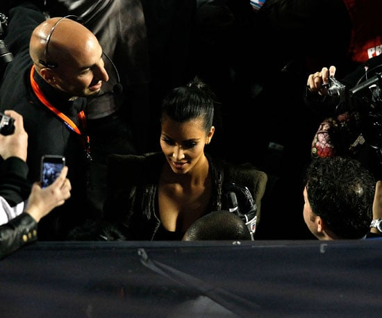 Kim Kardashian got almost as much attention as the 2010 game when she showed up to cheer on the Saints' Reggie Bush.