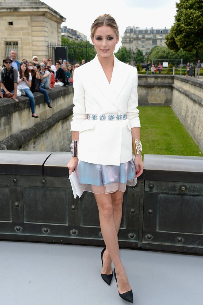 Olivia was exquisite in Dior at Paris Haute Couture week. We especially love her statement accessories.
