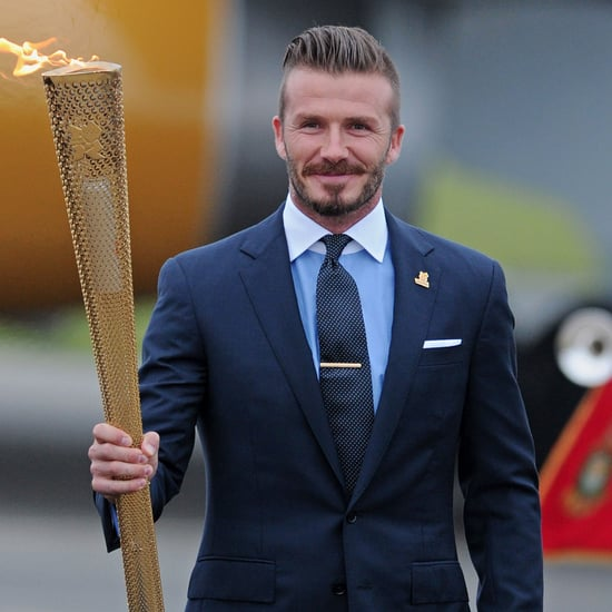 David Beckham Olympic Torch in England Pictures