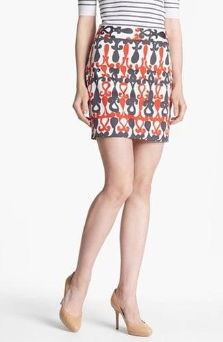 Milly 'Combo' Print Miniskirt Kumquat 0