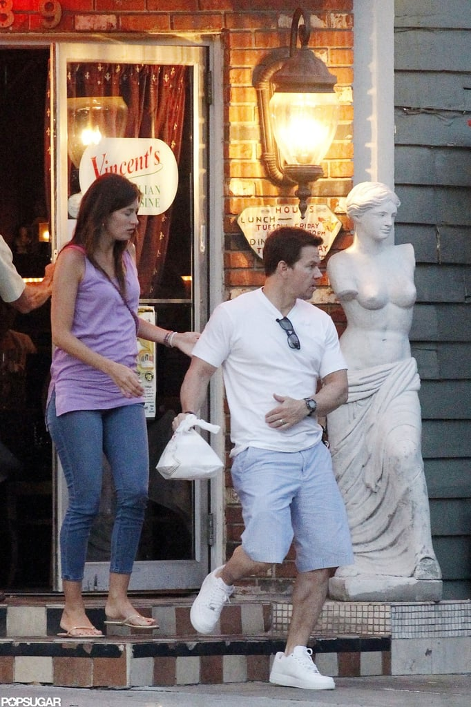 Mark Wahlberg and Rhea Durham left a restaurant together in New Orleans.