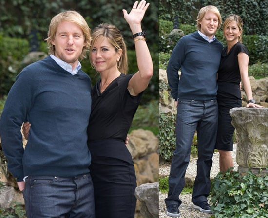 Photos of Jennifer Aniston and Owen Wilson at Rome Photocall for Marley & Me