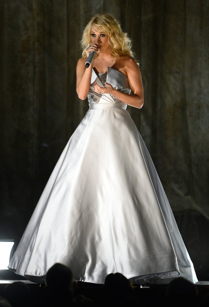 Carrie Underwood performed at the Grammys.