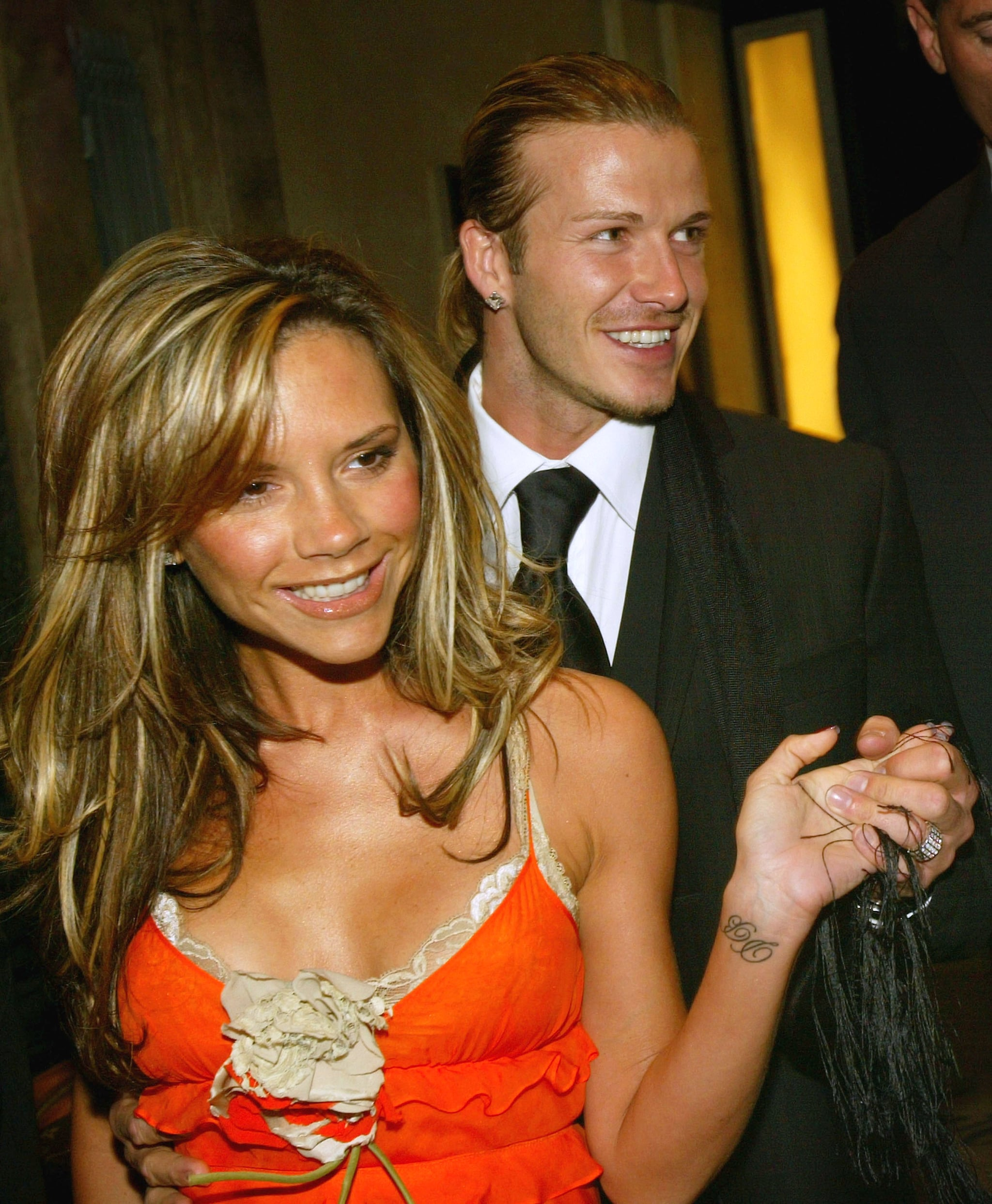They were all smiles at Claridge's hotel in London in April 2004.