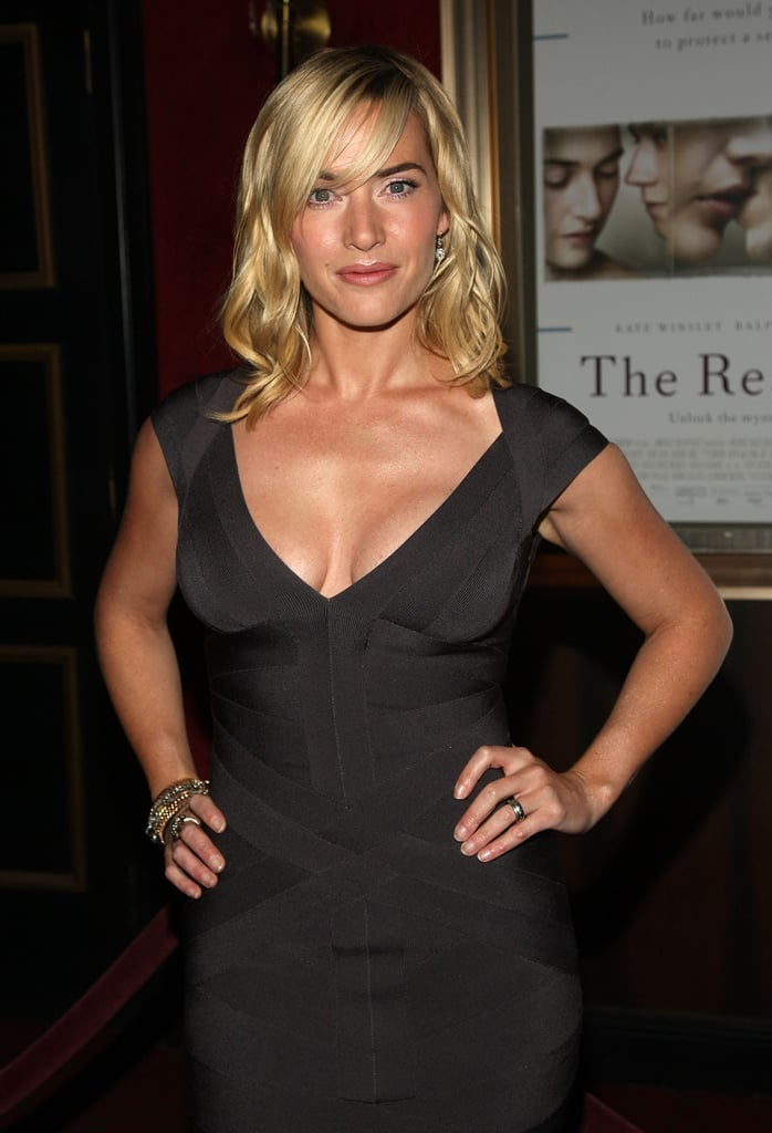 Kate Winslet flaunted a tan and a fit body at the NYC premiere of The Reader in 2008.