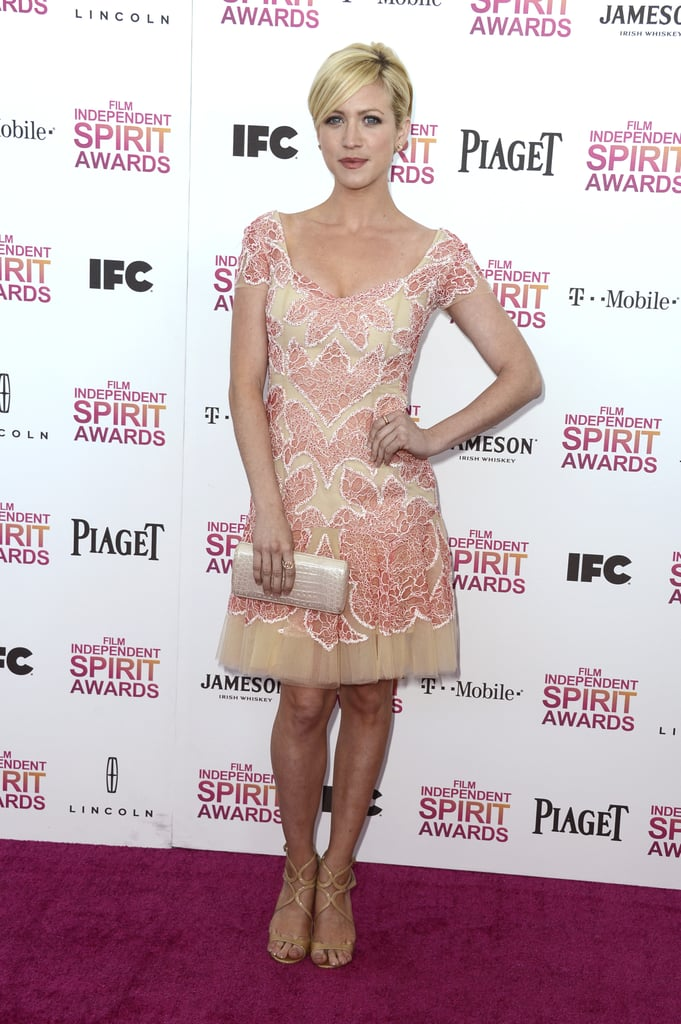 Brittany Snow on the red carpet at the Spirit Awards 2013.