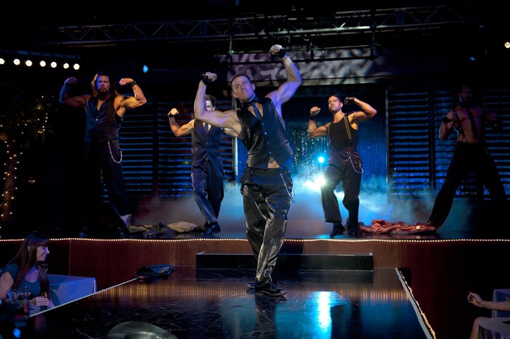 Joe Manganiello, Adam Rodriguez, Channing Tatum, Matt Bomer, and Kevin Nash in Magic Mike.