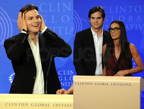 Pictures of Demi Moore and Ashton Kutcher Presenting a United Front to Fight Child Slavery and Cheating Rumors