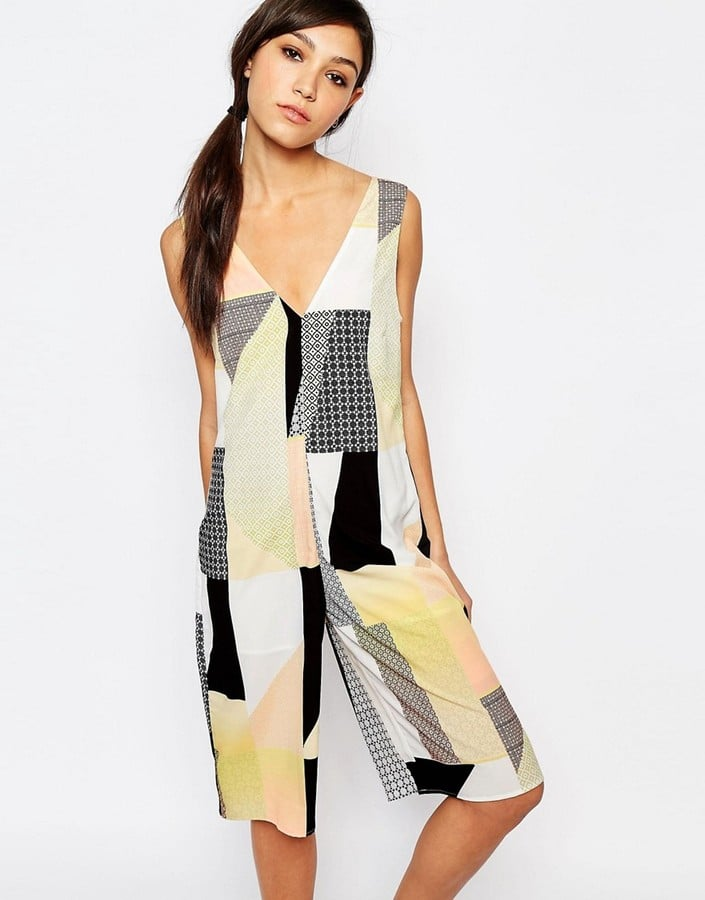 Neon Rose Relaxed Cropped Jumpsuit in Patchwork (Sold Out)