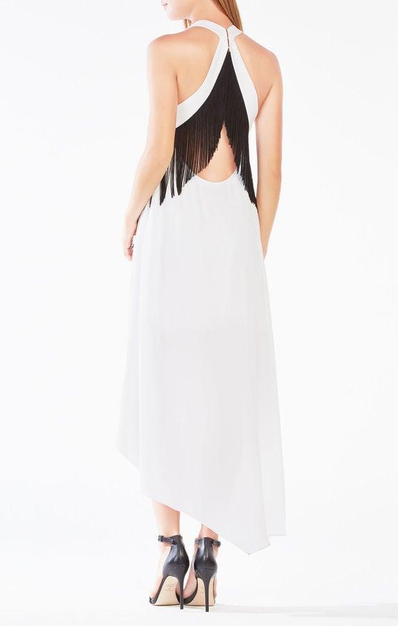 BCBGMAXAZRIA Vickie Fringe High-Low Dress ($248)
