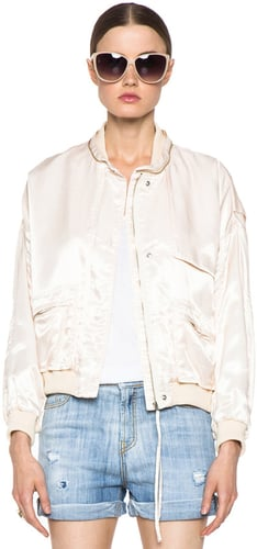 Girl. by Band of Outsiders Flight Bomber Jacket in Nude
